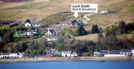 Loch Dubh Bed and Breakfast with Loch Carron